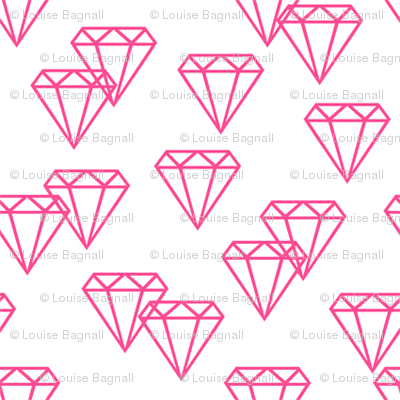 Diamond repeat pink