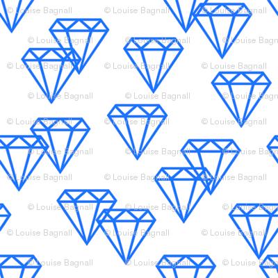 Diamond repeat blue