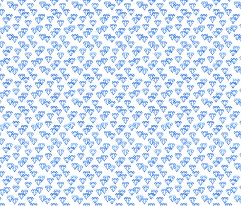 Diamond repeat blue fabric by happyplushplush on Spoonflower - custom fabric
