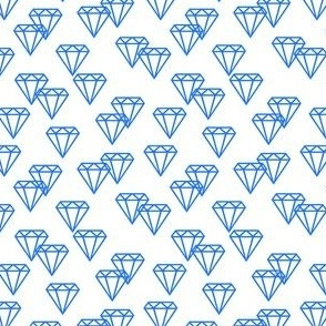 Diamond repeat blue