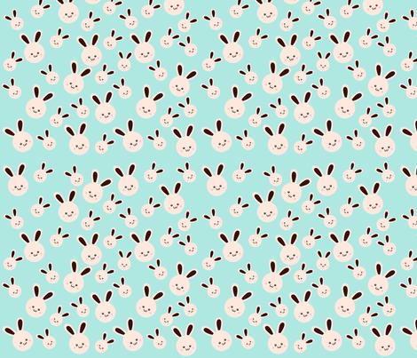 It's A Bunny World! fabric by beii on Spoonflower - custom fabric