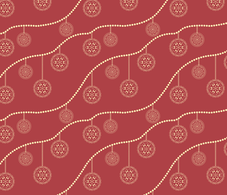christmas ornaments fabric by suziedesign on Spoonflower - custom fabric