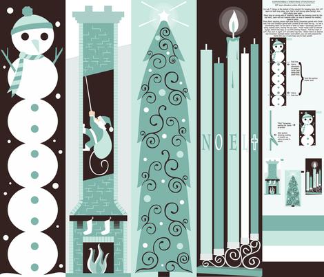 Expandable Christmas Tube Sock fabric by ttoz on Spoonflower - custom fabric