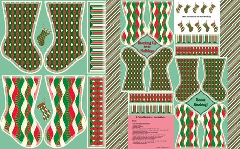 Stocking Up for the Holidays - Jingle fabric by inscribed_here on Spoonflower - custom fabric
