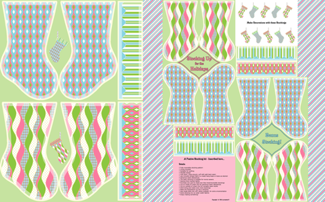 Stocking Up for the Holidays - Baby fabric by inscribed_here on Spoonflower - custom fabric