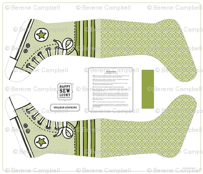 Happy Sew Lucky Sneaker Stocking - GREEN
