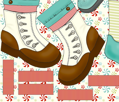 Five Fancy Feet fabric by mytinystar on Spoonflower - custom fabric