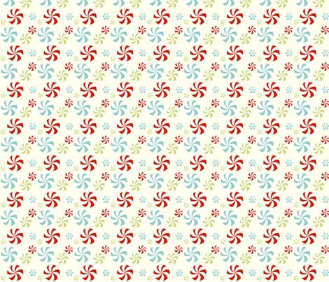 peppermint swirls fabric by mytinystar on Spoonflower - custom fabric
