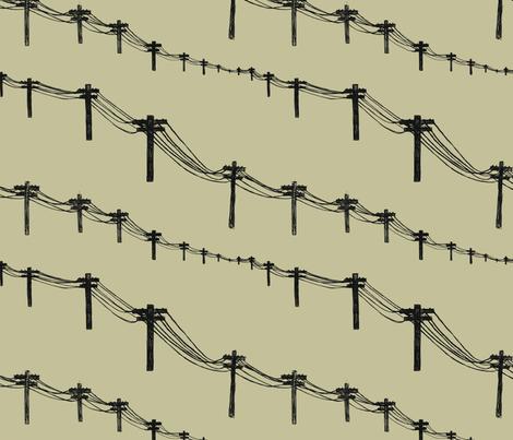 metal trees fabric by marinamolares on Spoonflower - custom fabric