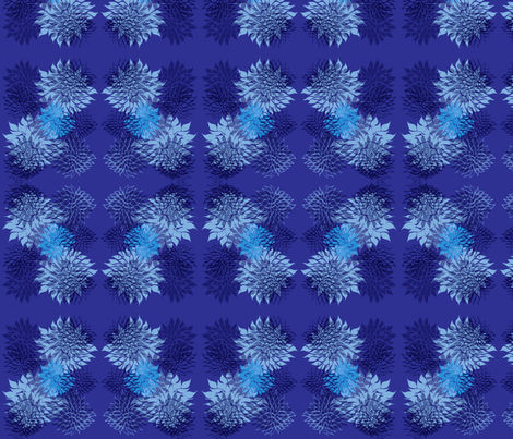 Floating lilies/navy fabric by isabel_isaza on Spoonflower - custom fabric