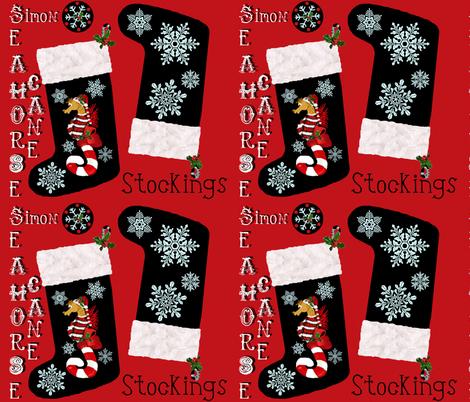 """Simon"" snowflake stockings fabric by paragonstudios on Spoonflower - custom fabric"
