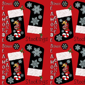 """Simon"" snowflake stockings"