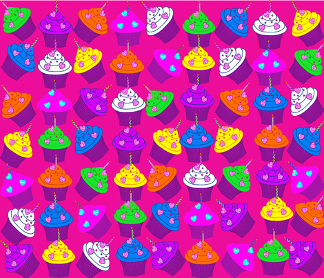 Birthday Cup Cakes fabric by sezblack1977 on Spoonflower - custom fabric