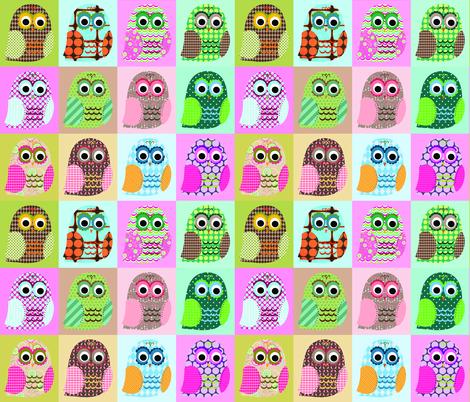 Hoot Owls fabric by petunias on Spoonflower - custom fabric