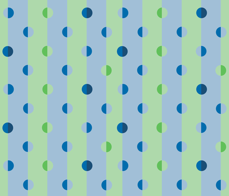 polka dot stripes in blue-green fabric by delsie on Spoonflower - custom fabric