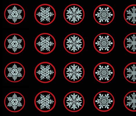 Snowflake jam jar lid covers fabric by paragonstudios on Spoonflower - custom fabric