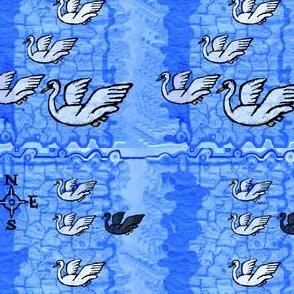 Seven Swans a' Swimmin