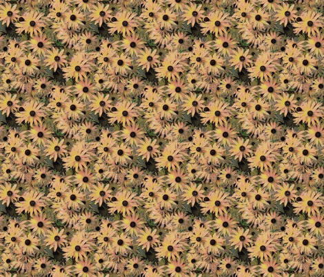 Yellow flowers fabric by koalalady on Spoonflower - custom fabric
