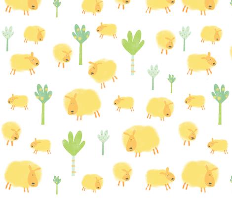 Sheep fabric by amy_schimler-safford on Spoonflower - custom fabric