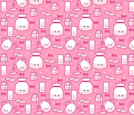 Strawberry Milk Craze fabric by beii on Spoonflower - custom fabric