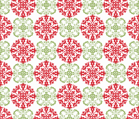 Christmas Ball fabric by hauteideas on Spoonflower - custom fabric