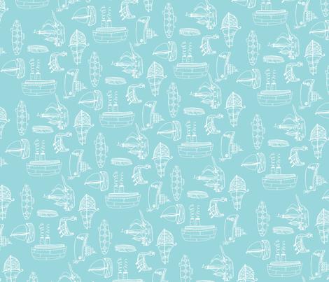 boatsfabric3 fabric by 1canoe2 on Spoonflower - custom fabric