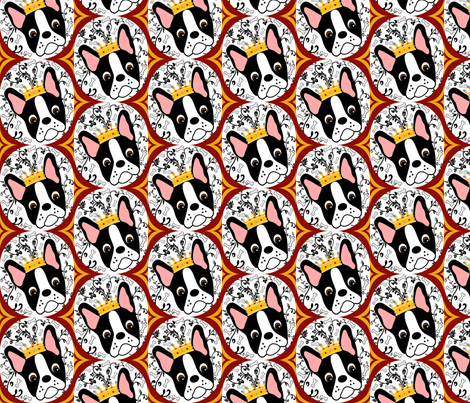 Queen Daisy Retro Wallpaper fabric by missyq on Spoonflower - custom fabric