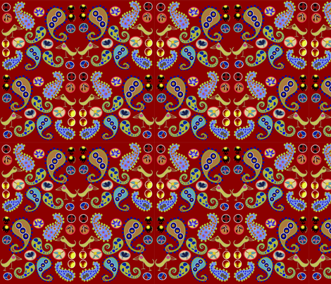 paisley-2A-1 fabric by soobloo on Spoonflower - custom fabric
