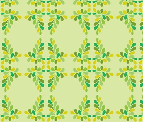 Green Swirl Frame fabric by carinaenvoldsenharris on Spoonflower - custom fabric