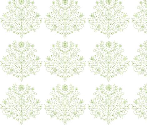 Tree of Life Green fabric by carinaenvoldsenharris on Spoonflower - custom fabric