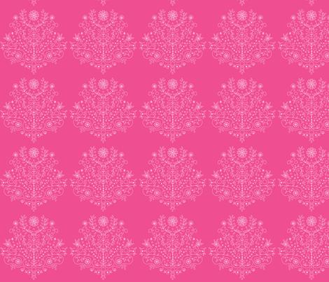 Tree of Life Pink fabric by carinaenvoldsenharris on Spoonflower - custom fabric