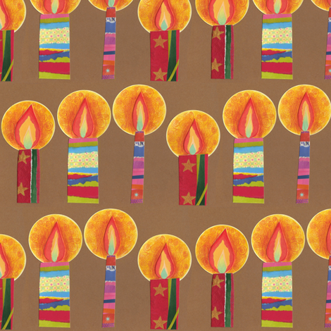 collage candles fabric by scrummy on Spoonflower - custom fabric