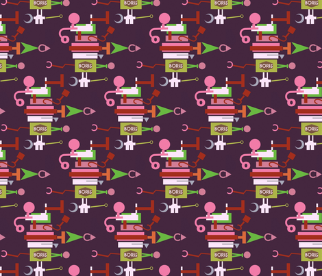 Boris,the Top-Heavy Fix-It Robot fabric by boris_thumbkin on Spoonflower - custom fabric