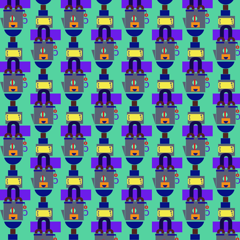 Happy Samovar Stripe on Jadeite fabric by boris_thumbkin on Spoonflower - custom fabric