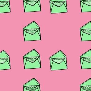 Lavender and Lime Envelopes