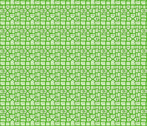 Green Envelopes fabric by yoursecretadmiral on Spoonflower - custom fabric