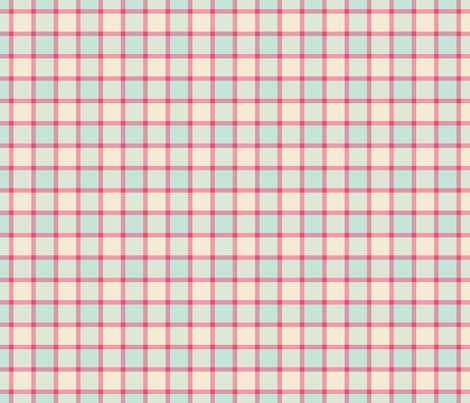 pink and blue plaid fabric by suziedesign on Spoonflower - custom fabric