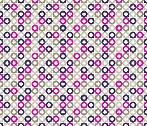 Soft circles - magenta fabric by newmomdesigns on Spoonflower - custom fabric