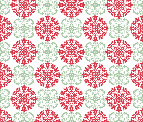 Christmas Ball (Holly & Ivy palette) fabric by hauteideas on Spoonflower - custom fabric