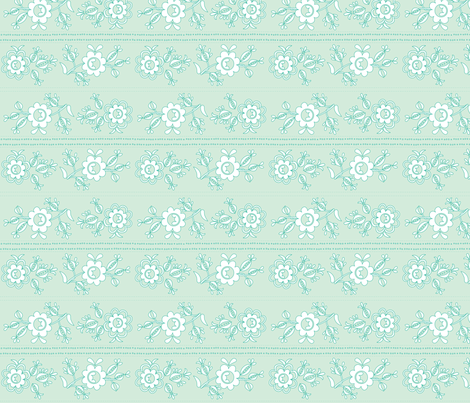 Fleur Mint fabric by carinaenvoldsenharris on Spoonflower - custom fabric