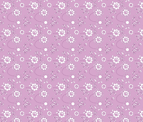 Fleur Lilac fabric by carinaenvoldsenharris on Spoonflower - custom fabric