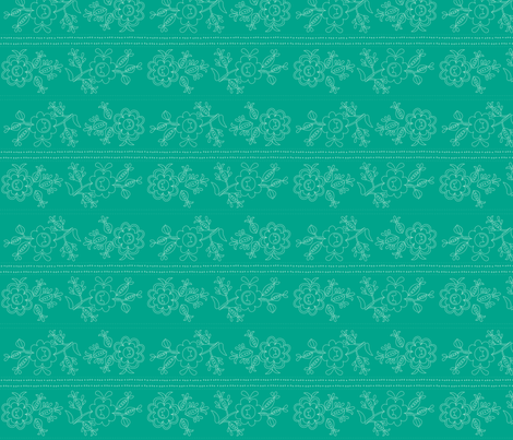 Fleur Teal fabric by carinaenvoldsenharris on Spoonflower - custom fabric
