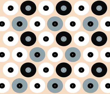 Recordz fabric by warholp89 on Spoonflower - custom fabric