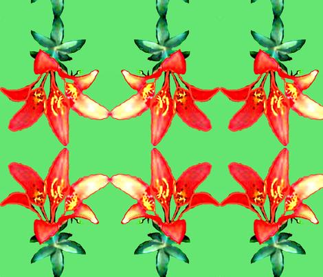 Sea Cairn Lily II fabric by robin_rice on Spoonflower - custom fabric
