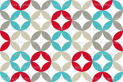 Soft circles - turquoise