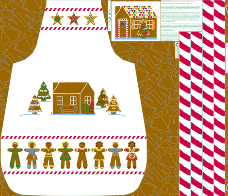 Dolly_and_me_Gingerbread_moms_apron fabric by victorialasher on Spoonflower - custom fabric