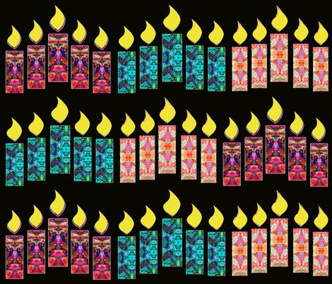 "XMASCANDLES fabric by frances""fancy_felter"" on Spoonflower - custom fabric"