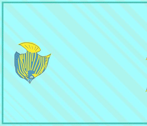 Angelfish Towel fabric by lemonadefish on Spoonflower - custom fabric