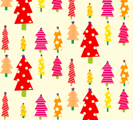 smaller_christmas_trees fabric by featheredneststudio on Spoonflower - custom fabric