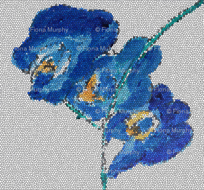 Mosaic of Blue Orchid